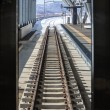 Railroad tracks in the winter, viewed from the train — Stock Photo #45417007
