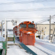 Japanese train on snow track — Stock Photo #45921079