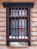 Old wooden window viewed from the outside — Stock Photo