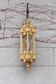 Vintage lantern hanging on the wall — Stock Photo