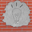 Brick hole with light bulb concept — Stock Photo #48497359