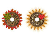 Autumn wreaths — Stock Photo