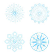 Set of New Year's snowflakes — Stock Vector