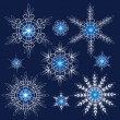 Decorative vector Snowflakes set — Stock Vector #34909693
