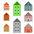 Stock Vector: Framework houses set