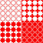 Design seamless red pattern — Stock Vector