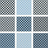 Design seamless pattern set — Stock Vector