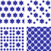 Design seamless cornflower pattern — Stock Vector