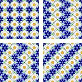 Design seamless flower pattern — Stock Vector