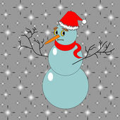 A funny Christmas snowman — Stock Vector