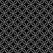 Design seamless monochrome flower pattern — Stock Vector