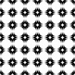 Design seamless monochrome geometric pattern — Stock Vector