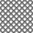 Stock Vector: Design seamless monochrome decorative trellis pattern