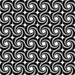 Design seamless monochrome spiral pattern — Stock Vector