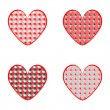 Vecteur: Set of design heart icons for Valentine's Day and wedding