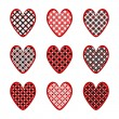 Stock Vector: Set of design heart icons for Valentine's Day and wedding