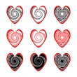 Stock Vector: Set of heart icons for Valentine's Day and wedding