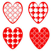 Set of design heart icons for Valentine's Day and wedding — Vecteur