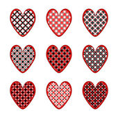 Set of design heart icons for Valentine's Day and wedding — Vector de stock