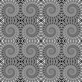 Design seamless monochrome wave pattern. Spiral textured backgro — 图库矢量图片