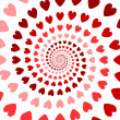 Design colorful spiral heart backdrop. Valentines Day background — Stock Vector