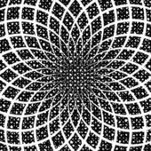 Design monochrome circular spiral background. Splinter textured — Stock Vector