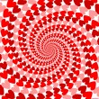 Design red striped heart helix movement background. Valentines D — Stock Vector #40418583