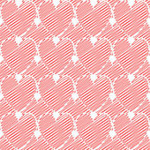 Design seamless colorful doodle heart pattern. Valentine's Day b — 图库矢量图片
