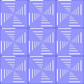 Design seamless blue checked pattern. Abstract geometric backgro — Stock Vector