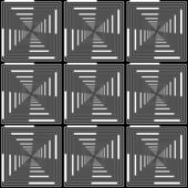 Design seamless monochrome checked pattern. Abstract geometric b — Stock Vector