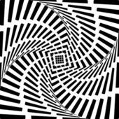 Design heart twirl movement illusion background. Abstract stripe — Stock Vector