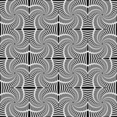 Design seamless uncolored swirl movement pattern. Abstract decor — Stok Vektör