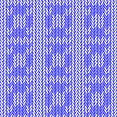 Design seamless colorful knitted pattern. Thread textured textil — Vecteur