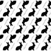 Design seamless Easter bunny rabbits monochrome pattern. Easter  — Stock Vector