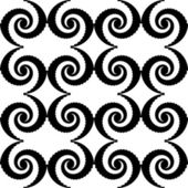 Design seamless monochrome spiral movement pattern. Abstract whi — Stock Vector