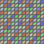 Nahtlose diamant geometrische diagonale entwurfsmuster. abstrakte col — Stockvektor