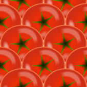 Tomato vegetables background. Design seamless colorful pattern — Vecteur