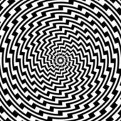 Design colorful spiral circular movement illusion background — Stock Vector
