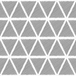 Design seamless monochrome triangular geometric pattern — Stock Vector