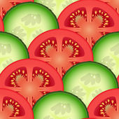 Sliced tomato and cucumber vegetables — Wektor stockowy