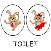 Man and woman restroom signs — Vetorial Stock