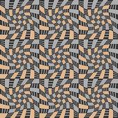 дизайн бесшовный монохромный движения иллюзия геометрический рисунок — Cтоковый вектор