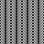 Design seamless monochrome vertical geometric pattern — Stock Vector #45412875