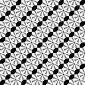 Design seamless monochrome lace decorative pattern — Stock Vector