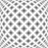 Design monochrome warped diamond pattern — Stock Vector