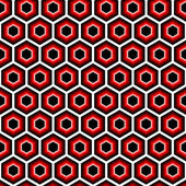 Design seamless hexagon geometric pattern — Vettoriale Stock