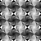 Design seamless monochrome decorative geometric pattern — Stock Vector