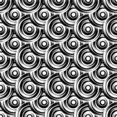 Modèle de conception sans couture cercle monochrome — Vecteur