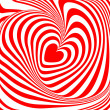 Design heart whirl illusion background — Stock Vector #46923787