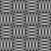 設計のシームレスなモノクロ チェック装飾的なパターン — ストックベクタ